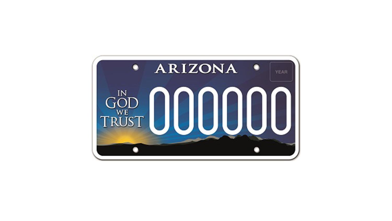AZ License Plate