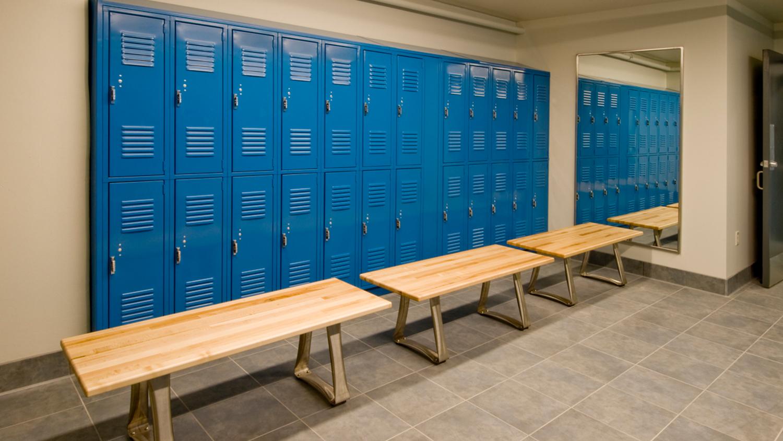 Blue Locker Room