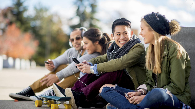 students-outside-sidewalk