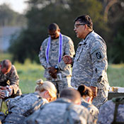 Praying Military Person