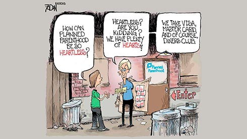 Defund PP Cartoon